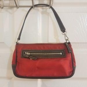 Coach Red Demi wristlet purse 4291